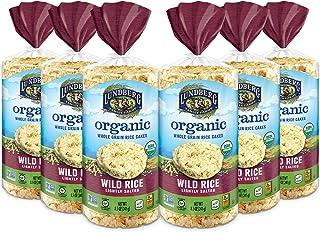 Lundberg Organic Brown Rice Cakes, Wild Rice, 8.5oz (6 Count), Gluten-Free, Vegan, USDA Certified Organic, Non-GMO Verifie...