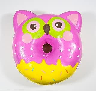 Puni Maru Jumbo Animal Donut with Display Box Pink Owl Donut