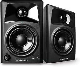 M-Audio AV32 - Par de monitores activos de referencia compactos, para escritorio, para reproducción multimedia con audio de calidad estudio para creación audiovisual profesional