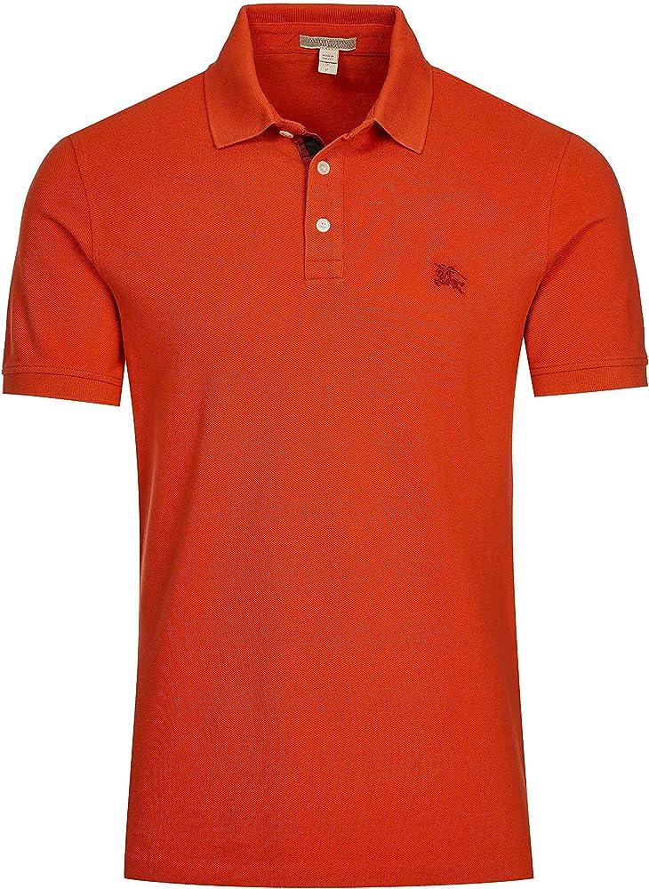Burberry brit poloshirt, maglietta per uomo, 100% cotone 3818895