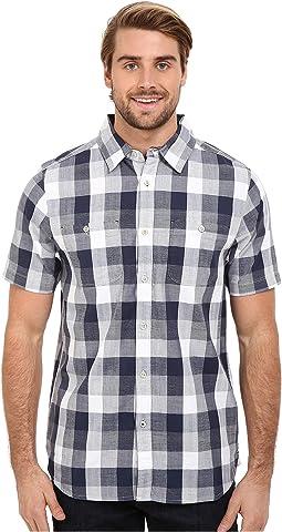 Short Sleeve Shadow Gingham Shirt