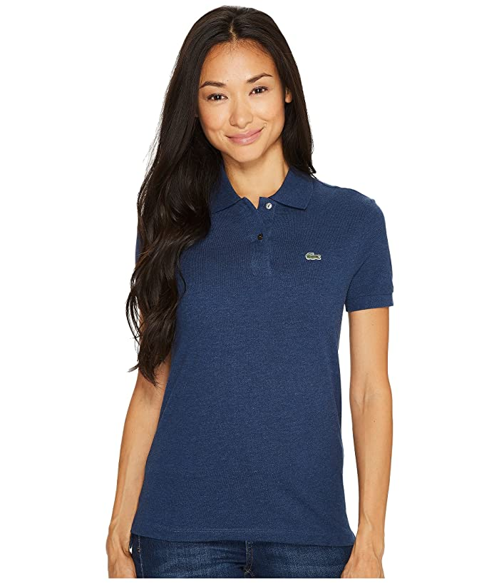 384e5876 Short Sleeve Two-Button Classic Fit Pique Polo