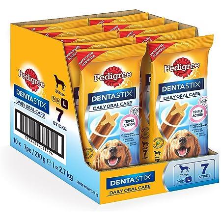 Pedigree Dentastix Large Breed (25 kg+) Oral Care Dog Treat (Chew Sticks) 10 Packs (10 x 270g)