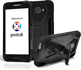 for Jitterbug Smart2 Case Phonelicious Kickstand Heavy Duty Rugged Slim Durable Hybrid Dual Layer Shockproof Phone Cover Compatible with Greatcall Jitterbug Smart 2 (2018) (Black)