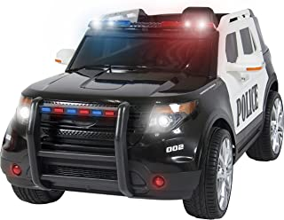 Best Choice Products Kids 12V Electric Police Ride-On SUV with RC, Lights/Sounds, AUX, Black