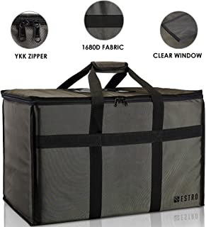 Bestro Premium Insulated Food Delivery Bag Hot & Cold Travel Storage | Commercial Large Warming Tote | Delivery Drivers, Restaurants, Caterers | Fits Full-Size Chafing Steam Trays