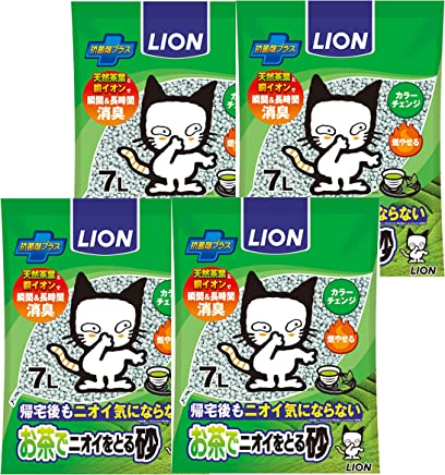 お茶でニオイをとる砂 猫砂 7L×4(ケース販売)