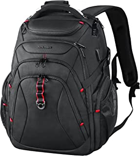 KROSER Travel Laptop Backpack 17.3 Inch XL Heavy Duty Computer Backpack with Hard Shell Saferoom RFID Pockets Water-Repell...