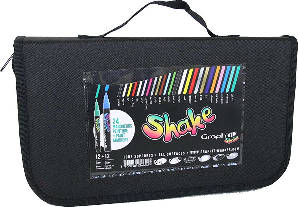 Graph 'it Shake 24?Pigment Ink Watercolour Markers Assorted Colours