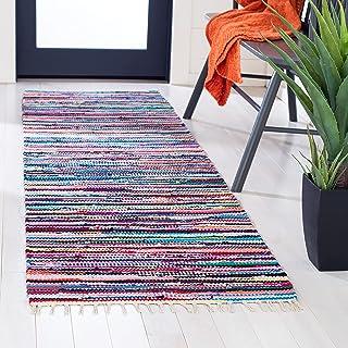 "Safavieh Rag Rug Collection RAR128G Handmade Boho Stripe Cotton Runner, 2'3"" x 8' , Multi"