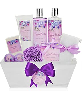 Birthday Gift Basket Spa Kit - Spa Basket Bath & Body Birthday Basket Gift Set is the #1 Women Birthday Gift for Wife, Mom & Friends! Spa Gift Basket #1 Best Birthday Gift Baskets for Women!
