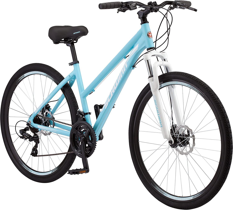 Schwinn GTX 2 Women's Dual Sport 700c Wheel Bicycle, blueee, 16  Small Frame Size