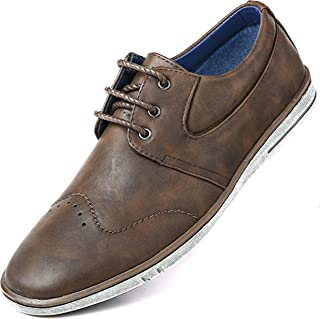 Mio Marino Men Casual Oxford Shoes - Comfortable Business Fashion Mens Casual Dress Shoes
