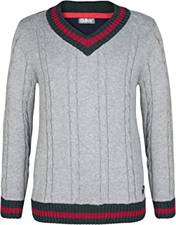 GULLIVER Teen Boy Long Sleeve Turtleneck Sweater Jumper Stripe Print Very Warm Knitwear Regular Fit for 11-14 Years Casual Colour Grey Black Red Round Polo-Neck Wool