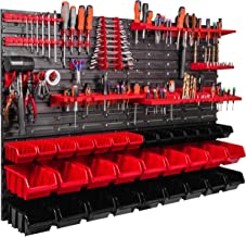 ITBNN600x4-U1121-MIX36, 115 x 78 cm rek kleine onderdelen gereedschap organizer wandrek opbergdozen stapelboxen werkplaats...