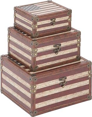 Benzara Wooden Box S/3-54056