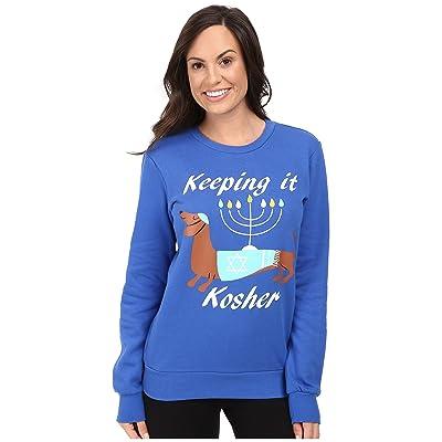 P.J. Salvage Keeping It Kosher Sweatshirt (Royal Blue) Women