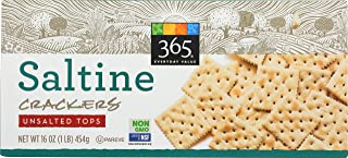 365 Everyday Value, Saltine Crackers, Unsalted Tops, 16 oz