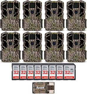 Stealth Cam G45NG Max Pro 30MP Trail Camera (8-Pack) with 32GB SD Cards and Card Reader Bundle (17 Items)