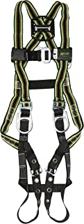 Miller by Honeywell E650-58/UGN DuraFlex 650 Series Full-Body Stretchable Harness with tongue Buckle Legs Straps and Side D-Rings, Universal, Green