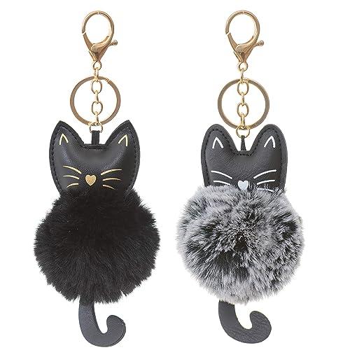 Dreams and Whispers Faux Fur Ball Pom Pom Key Chain Ring for Women Girls  Bag Pendant 92e46bdf2a