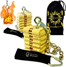 Pro CATHEDRAL kevlar Fire Poi Set + Travel Bag by Flames 'N Games (Cathedral)