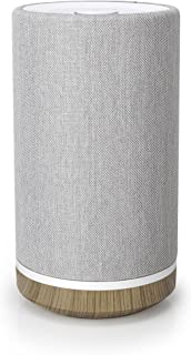 Knit Audio Timpani, KW101, Tower Bluetooth Wireless Indoor Speaker with 20W Output Power, Compatible for Android and Apple, Light Gray/Wood Grain, 6.3