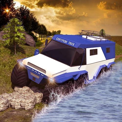 Offroad Hundertfüßer LKW-Fahrer Simulator Spiele 2018 Russisch Abholen LKW Abenteuer fahren