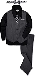 Johnnie Lene Pinstripe Boys Formal Dresswear Vest Set