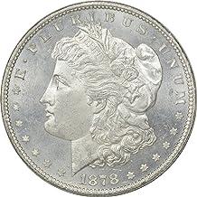 1878-P Morgan Silver Dollar, 7/8TF, MS63, Uncertified