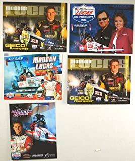 NHRA - Full Throttle Drag Series - Morgan Lucas - Top Fuel Dragster - Lucas Oil/Geico Powersports/K&N/Mac Tools /- 5 Promo Cards - Out of Print - Collectible