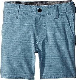 Locked Stripe Hybrid Shorts (Toddler/Little Kids)