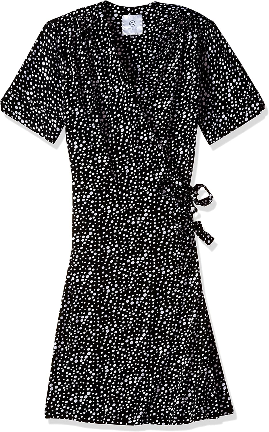 Alyssa Vermell Apparel The Liza Wrap Dress, Pebbles, 4