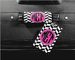 Personalized Monogrammed Tracks Design Luggage Tag, Monogram Bag Tag, Luggage Wrap, Luggage Tag, Personalized Luggage Tag, Personalized Luggage Wrap, Bag Tag, Bag Finder Handle Wrap Travel Set