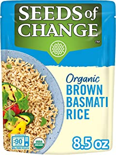 Sponsored Ad - SEEDS OF CHANGE Organic Brown Basmati Rice 8.5 Ounce (Pack of 12)