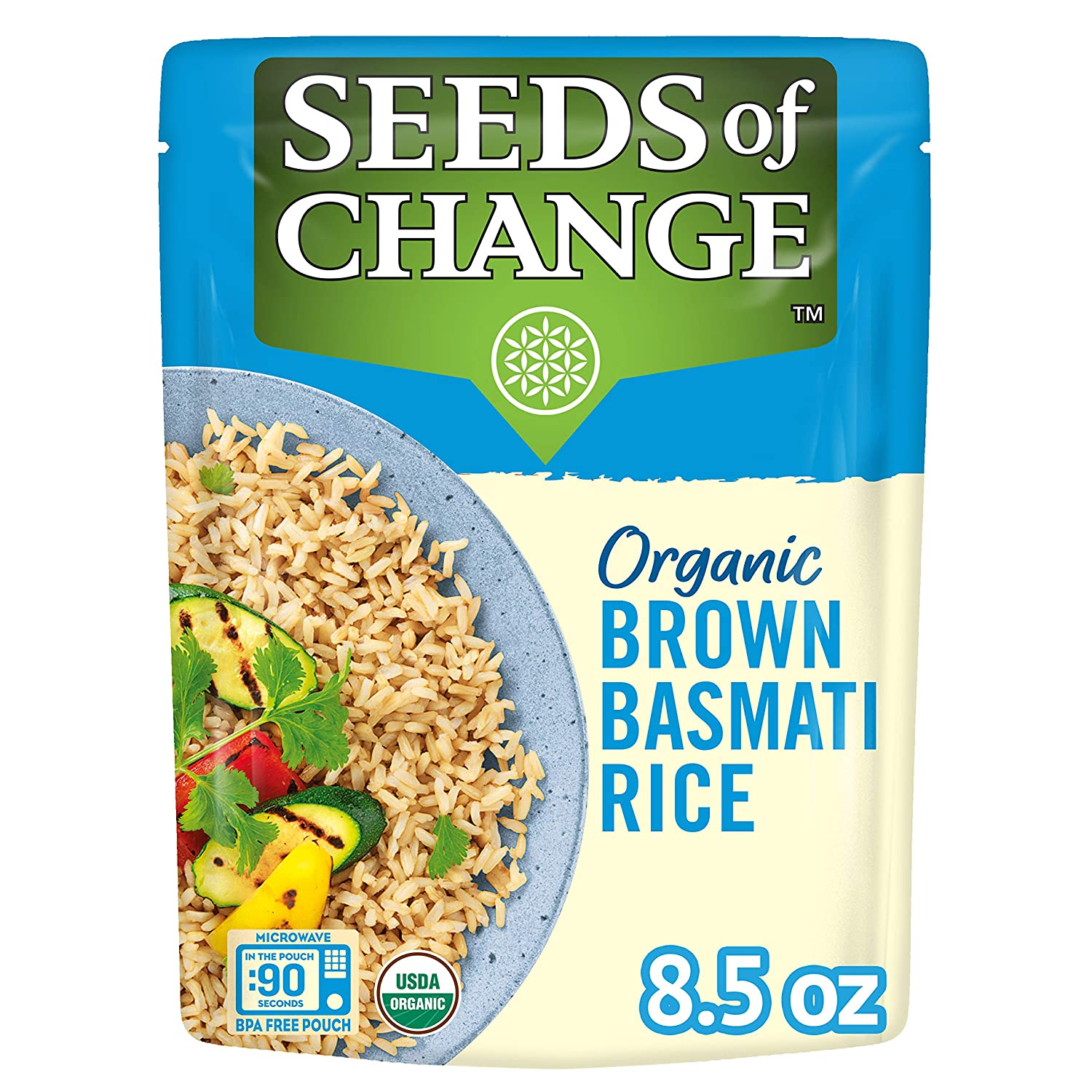 SEEDS Attention brand OF CHANGE Organic Brown Basmati 12 8.5 of Pack Rice Ounce Easy-to-use