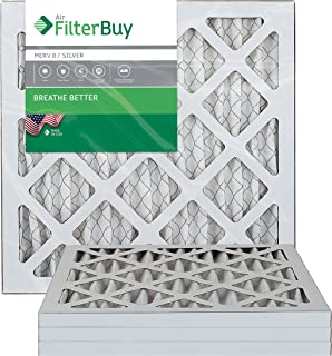 FilterBuy 10x14x1 MERV 8 Pleated AC Furnace Air Filter, (Pack of 4 Filters), 10x14x1 – Silver