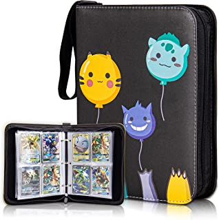 CloverCat Waterproof Trading Card Binder - Compatible with Amiibo Yugioh, MTG and Other TCG- Portable Storage Case with Pr...