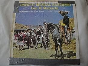 Los Caporales De Chuy Lopez, Confetti Musical Ranchero Con El Mariachi, Canta: Martha-Elba-Lopez Vinyl Lp 1963 Crown Records 298 Stereo