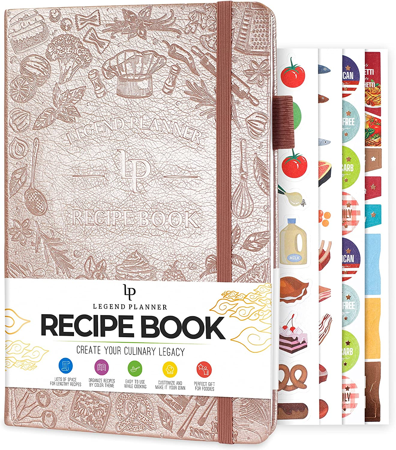 Legend Recipe Book – Blank Family Cookbook to Write In Your Own Recipes – Empty Cooking Journal – Personalized Cooking Not...