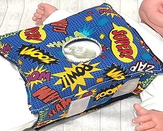 Superhero G-tube Pillow Belt for Infant Tummy Time