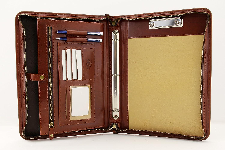 Noda Executive Leather Padfolio 買い取り 毎日がバーゲンセール 3 Ring Binder Busin Professional