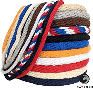 Ravenox Solid Braid Cotton Rope | Made in The USA | Used as Sash Cord, Clothesline, Macrame Projects, Utility Rope and More | Variety of Colors and Lengths