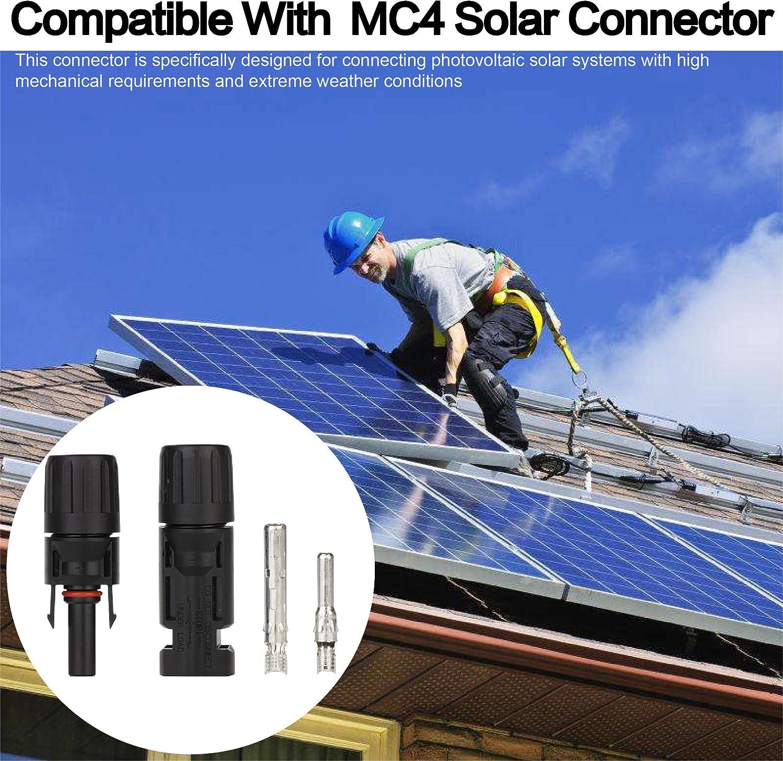Ruikarhop 12 Pair Solar Connectors Solar Panel Cable Connectors MC-4 Male//Female IP67 Solar Connectors+Handy Tool.