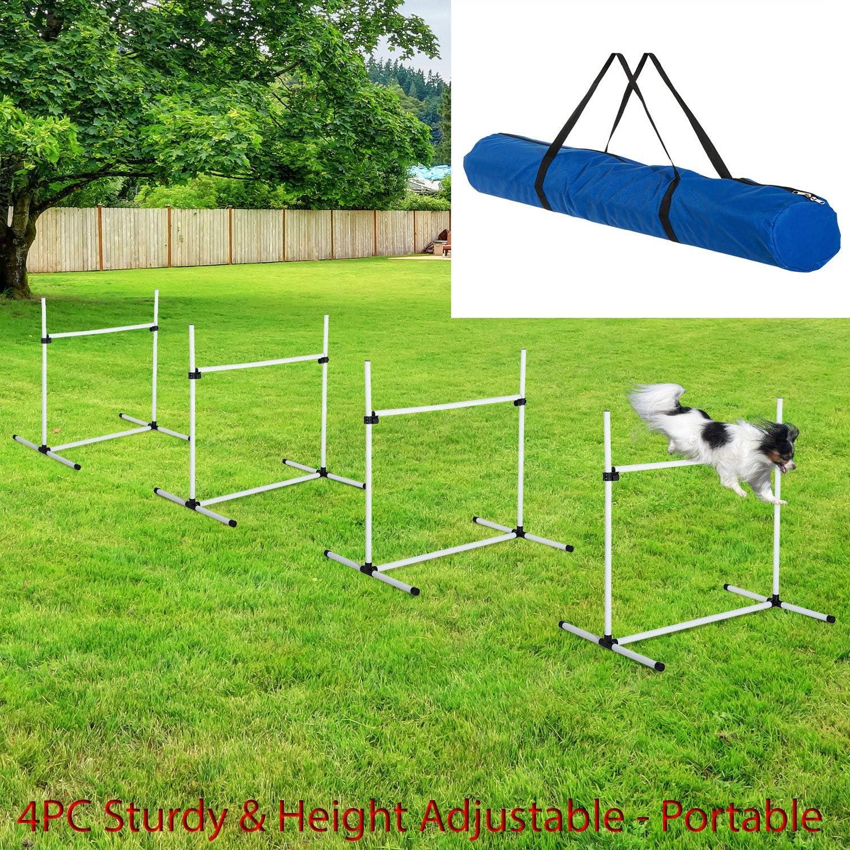 HighHoop Popular popular 4PC Sturdy Height Adjustable security Tra Agility Jump Pet Dog