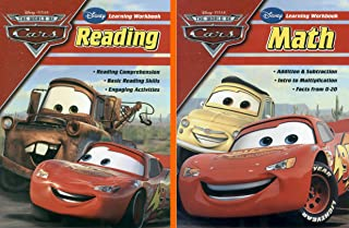 Disney Learning Workbook Bundle: Cars Reading Activity AND Cars Math Workbook