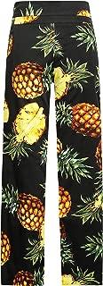 Women's Pineapples Classic Fit Casual Wide Leg Hawaiian Pants