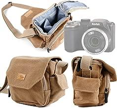 DURAGADGET Light Brown Medium Sized Canvas Carry Bag with Multiple Pockets & Customizable Interior Compartment - Suitable for The Kodak AZ251 Pixpro AZ251 Camera