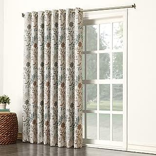 Sun Zero Kara Floral Print Energy Efficient Grommet Patio Door Curtain Panel, 100