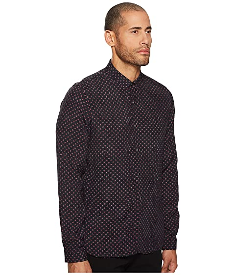 A Kooples Collar The Classic with Printed Shirt Y0dYnx8w